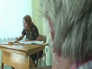 Granny Teacher Fucks with her Old Student