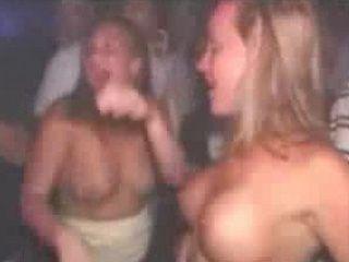 Girls Show Off Tits on Dance Floor