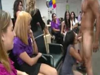 Amateurs Blow Strippers at Female Party