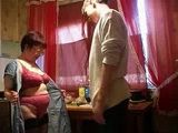 Granny Showed to Young Man what She is Offering