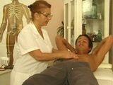 German Granny Doctor Fuck Young Patient in her Practice