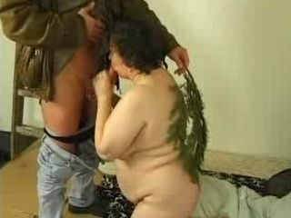 Younger Mans Cock Enjoy in Granny Moms Mouth and Pussy