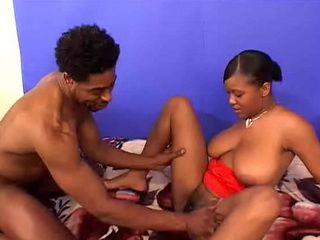 Big Tit Ebony Takes a Big Thick Black Cock