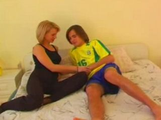 Russian Student Boy Fuck Blonde Mom from Behind