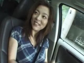Japanese Slut Masturbate in Car