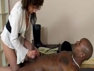 Old Hotty gets Herself some Dark Meat