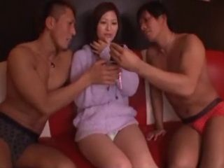 On the Phone with Boyfriend While Getting Fucked By Two Guys