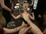 Cute Bondage Blond Girl Humiliated and Fucked on The Table