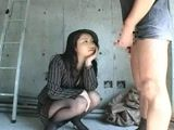 Japanese MILF Secretary Watches Boss Jerk Off