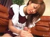 Cute Asian Maid Pleases Her Boss With Tekoki Uncensored