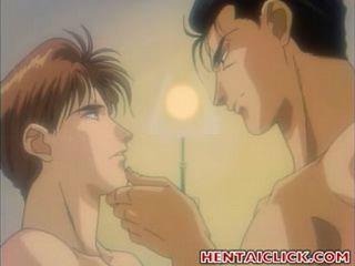 Hentai gay hardcore fucked his boy