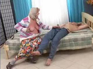 Sleeping Grandpa Awaken and Fucked By Old Horny Granny