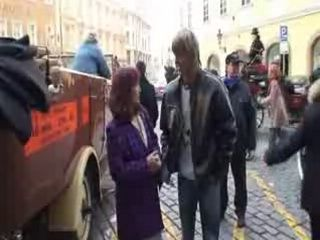 Old Red Head is Picked Up On Street and Fucked By Boy