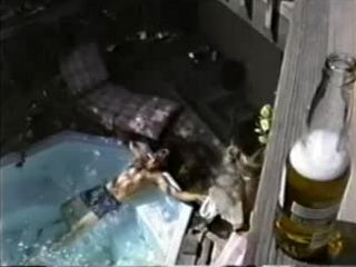 Beer Sun and Mexican Hottie in the Pool