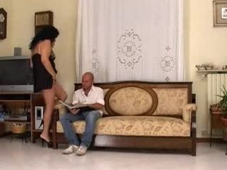 Italian mature is fucked by her son