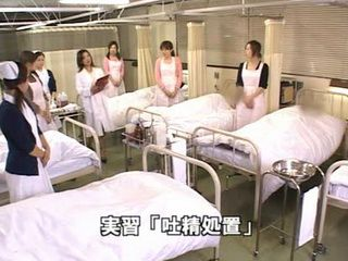 Japanese Nurses Practice Tekoki Giving To Their Patients CFNM