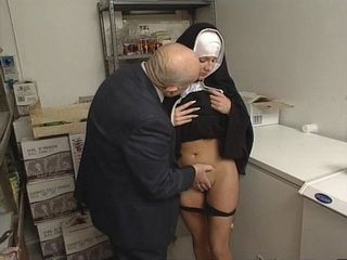 Young Nun Gets Abused By Old Bald Guy