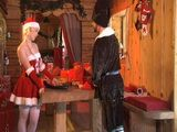 Blonde Santa Helper Gets Anal Fucked In Santa Hut