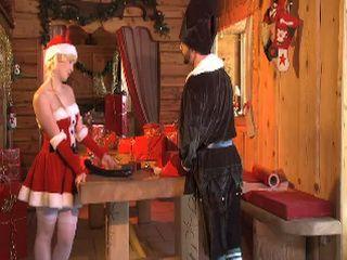 Blonde Santa Helper Gets Anal Fucked In Santa Hut