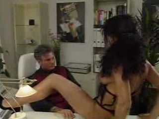 Boring Milf Housewife Teasing Husband in his Office