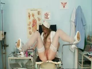 Ema speculum nurse uniform masturbation at clinic