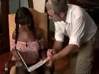 Old Teacher fuck Ebony Teen student