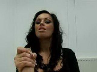 Kerry Louise giving a harsh handjob