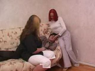 Russian mom and daughter is fucked by her stepson