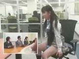 cute girl is played when she is in job interview 001