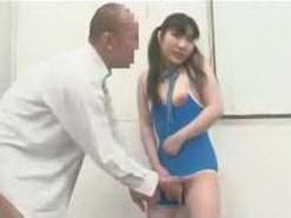 cute girl is played when she is in job interview 002