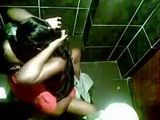 Ebony Couple Toilet Sex