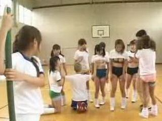 Crazy japan school with porn classes having a contest