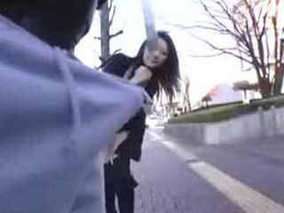 Japanese Girl Picked Up On The Street And Fucked By Huge Cock