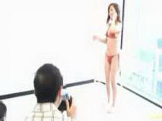 Hot Japanese Model Fucked Behind The Scene By Her Manager