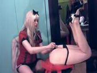 Goddess Starla Punishing A Sissy Ass