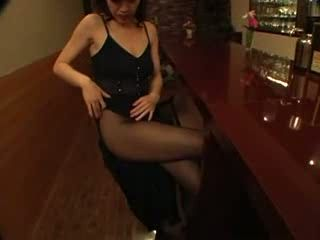 Hot Japanese Whore In Pantyhose Picked In Bar and Fucked