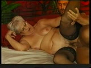 Granny is fucked by a young guy
