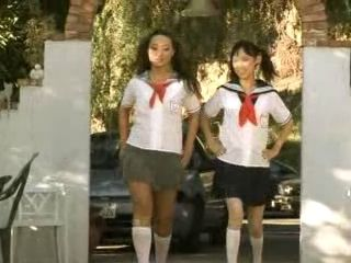 Two Horny Japanese Schoolgirls Having Fun