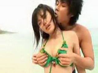 Pervert Guy Takes Of Her Bikini And Fucks Japanese Girl