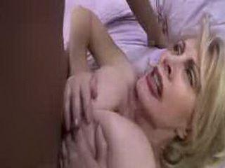 Super busty old blonde Patty Plenty takes on big black dick