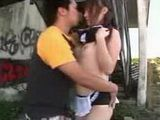 Japanese Unoform Girl Fucked On The Public Place