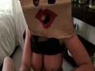 Masked girlfriend sucks my dick