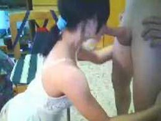 Hot webcam teen gets analized and facialized