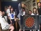 Japanese Teens Playing Darts and Risk Blowjob If They Lose