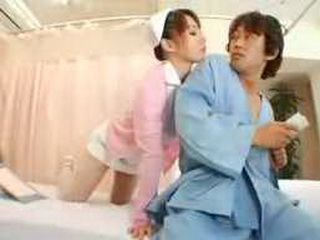 Japanese Horny Nurse Working Alone In The Night Shift Will Cause Nothing But Trouble