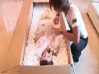 Birthday Present : Naked Japanese Girl For Sex jSent In Box