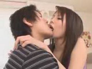Pervert Japanese Girl Licking Guy's Ass And Playing Wiyh His Dick Until He Cumes