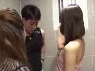 Japanese Ladies Helping Guy To Wash His Smelly Dick