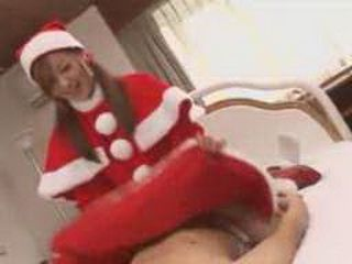 Sex With Japanese Female Santa Claus
