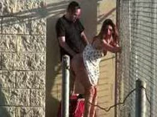Crazy Couple Having Sex Outside At Public Place Where Enyone Can See Them